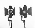 Light equipment black and white shot of Stock Photography