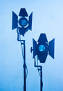 Light equipment photo of in blue tones Royalty Free Stock Photography