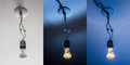 Light fixture a with a bulb montage Royalty Free Stock Images