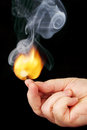 Light the flame at the tip of your fingers. Royalty Free Stock Photo