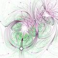 Light glossy fractal swirls Royalty Free Stock Photo