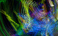 Light graffiti colorful lights in motion convergence abstract of color Royalty Free Stock Images