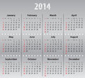 Light gray calendar for solid sundays first Royalty Free Stock Photography