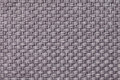 Light gray textile background with checkered pattern, closeup. Structure of the fabric macro. Royalty Free Stock Photo