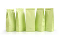 Light green packages isolated on white background Stock Image