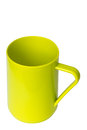 Light green plastic cup on white background Stock Photography