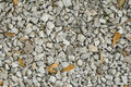 Light grey gravel (Pebble) floor texture, top view, Pebbles back Royalty Free Stock Photo