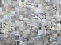 Light grey patchwork photomontage background textures and Stock Image