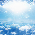 Light from heaven Royalty Free Stock Photo
