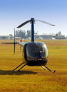 Light helicopter Stock Photo