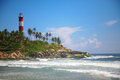 Light house of kollam in triivendrum famous beach kerala state india Royalty Free Stock Image