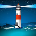 Light house and twilight Royalty Free Stock Photo