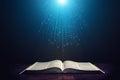 Light illuminating the Bible Royalty Free Stock Photo