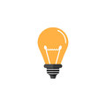 Light lamp flat icon, Education business element
