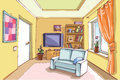 Light living room the interior of a in a bright sunny day the layered vector eps v enjoy Stock Image
