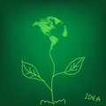 Light map of eco world leaves idea illustration Stock Photos