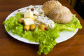 Light mediterranean lunch Royalty Free Stock Photography