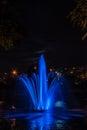 Light and music fountain at Rusanovka Royalty Free Stock Photo