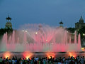 Light and music performance at the magic fountain of montjuic montjuïc in montjuïc neighborhood barcelona catalonia spain Stock Photo