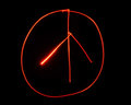 Light Painted Peace Sign Royalty Free Stock Photo