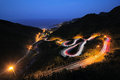 Light Painting and winding road Royalty Free Stock Photo