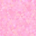 Light pink abstract triangles seamless background vector illustration Stock Image