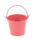 Light pink pail isolated on a white background Stock Photography