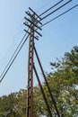Light pole transmission line tower Royalty Free Stock Image