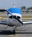 Light propeller airplane Royalty Free Stock Images