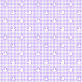 Light purple gingham fabric ducks background seamless Stock Image