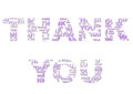 Light purple thank you a on white Royalty Free Stock Photos