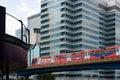 Light railway through city Stock Photography