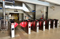 Light rapid transit trains ticket gate kuala lumpur malaysia february at station ampang malaysia Stock Photo