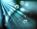Light rays bubble background Stock Photography