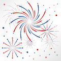 Light red blue firework on christmas holiday in winter Stock Image