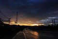 Light road landscape shine gleam Royalty Free Stock Photo
