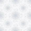 Light seamless pattern with flower chrysanthemum Royalty Free Stock Photo