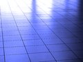 Light and shadow on white reflective floor detail of marble tile Stock Photo