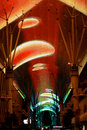 Light show on Fremont Street Stock Images