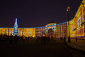 Light show on Palace square