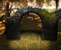 Light stone arch premade background Royalty Free Stock Image