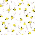 Light Summer fresh Blossom yellow Floral pattern in the bloomin