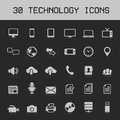 Light technology icons vector illustration icon set Royalty Free Stock Images