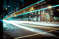 Light trail in downtown, Vancouver, BC Royalty Free Stock Photo
