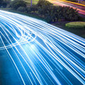 Light trails on the road Royalty Free Stock Photos