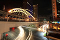 Light trails at Sathorn-Narathiwas junction Royalty Free Stock Photography