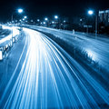 Light trails on the street Stock Photography