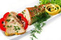 Light tuna served on plate Royalty Free Stock Photos