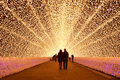 Light tunnel in winter illumination, Mie, Japan Royalty Free Stock Photo