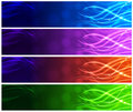 Light up strands web banners vector Stock Images